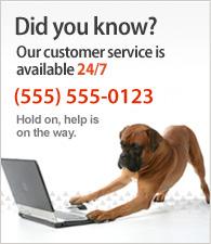 Unser Kunden-Service ist 24/7 erreichbar. Kontaktieren Sie uns unter (555)555-0123.